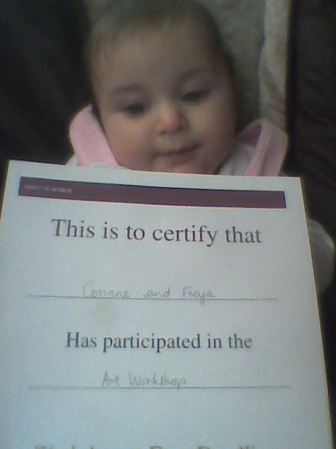 Freya leaving with another certificate